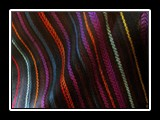 Mining Rainbow Shawl or Wide Scarf Handwoven Tencel, Dimity Weave 60
