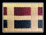 Levels (closeup) Rug Handwoven Wool, Bound Weave 70